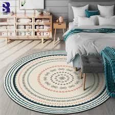 sunnyrain 1 stück morden runde teppiche für wohnzimmer bereich teppich für schlafzimmer teppiche verrutschen widerstand