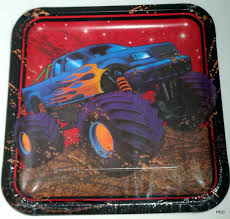 Monster Truck Mudslinger Square Paper Plates 9 Inch Party Supplies ... Monster Truck Birthday Party 131430 Supplies Elegant Decorations Jam 3d Paper Hats This Started Monster Truck Backdrop 9 Oz Cups 8 Top Popular 72076 Canada Open A Terbaru 2017 Tondeusebarbefrinfo Real Parties Modern Hostess Youtube Dessert Plates Halloween Ideas 2018 Birthdayexpress Dinner Plate 24