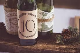 Wedding Reception Rustic Wine Bottle Centerpieces