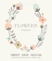 Sweet Shop Design Flower Border Clip Art Frames Royalty Free