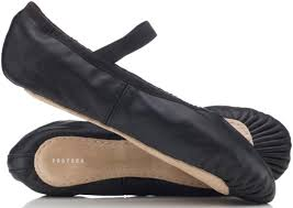 black leather ballet shoes by provora for boys and girls