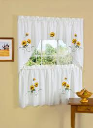 Sunflower Kitchen Curtains Ebay Embroidered Curtain 36 Loversiq