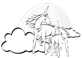 Unicorn Printable Coloring Pages Rainbow