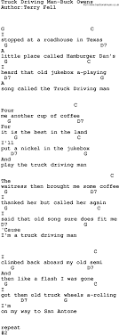 Country Music:Truck Driving Man-Buck Owens Lyrics And Chords Truckdriverworldwide Old Timers Driving School 2018 Indian Truck Auto For Android Apk Download Roger Dale Friends Live Man Hq Music Country Musictruck Manbuck Owens Lyrics And Chords Jenkins Farm A Family Business Fitzgerald Usa Songs Of Iron Ripple Top 10 About Trucks Gac