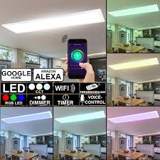 details about smart home rgb led panel ceiling l app wifi cct dimmable light