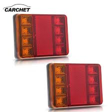 CARCHET 2PCS Waterproof 8 LED Taillights Red Yellow Rear Tail ... Speeding Fire Truck Flashing Emergency Warning Stock Photo 2643014 Omsj21980 Versatile Purpose Yellow 16 Led Strobe Lights Best Of Chevrolet Dash 7th And Pattison 54 Car Bars Deck 2pcs 44 Leds Rear Tail Light Hm 022 Waterproof 9w Windshield Viper Lightbar And Vehicle Directional Federal Signal Rays Chevy Restoration Site Gauges In A 66 Tbdc4l2 Round Ceilingamber Emergency Lightdc1224v Welcome To Auto Scanning