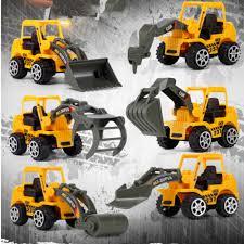 100 Kidds Trucks 6PCS Diecast Mini Construction Truck Car Toy Digger Excavator Kids