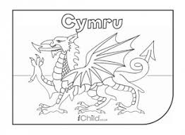 Come On Cymru Aka Wales Flag Colouring In Picture