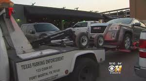 A Closer Look At The Towing Situation At West 7th « CBS Dallas ... 2018 New Freightliner M2106 Rollback Tow Truck For Sale In Fort M2 106 Extended Cab At Flatbed Service Worth Tx Ablaze Tows Eagle Towing Sacramento Ca Youtube 2016 Dodge Ram 2500 Moritz Chrysler Jeep Children Kids Video 1 Dead Injured Crash On I35w Fire Nice 48 F5 Truck Ford Enthusiasts Forums 24 Hours True