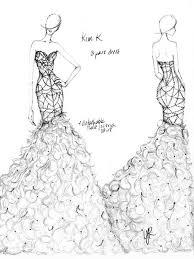 Kim Kardashian Wedding Gown Sketch