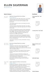 Business Analyst Technical Writer Resume Example