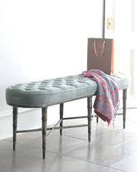 Narrow Upholstered Bench Design Inspiring Small With Back Grey