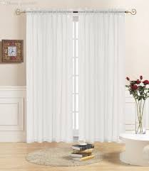 White Sheer Voile Curtains by Translucidus Tube Curtains Modern Light Translucent Solid Tulle