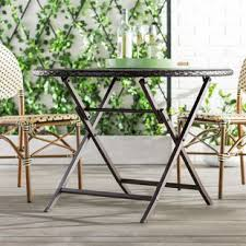 Belton Outdoor Wicker Dining Table