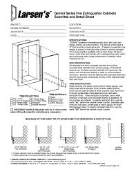 Recessed Fire Extinguisher Cabinet Detail by Specs Sheets And Order Fire Equipment Services Fire