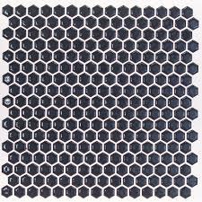 royal blue hexagon polished rimmed ceramic tile tilebar