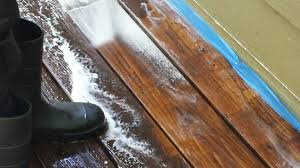 Restaining A Deck Do It Yourself by Decks Com Using A Pressure Washer To Clean A Deck