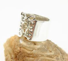 50 shades of grey ring corset ring sterling silver