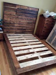 Pallet Bed Frame by Creative Ideas With Recycled Shipping Wood Pallets Wooden Pallet