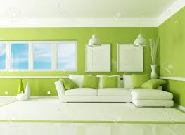 light green living room green fabric sofa square beige woven rug