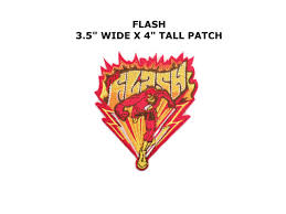 THE FLASH Lightning Bolt Logo EMBROIDERED IRON ON PATCH Applique Dc29 Dc Comics