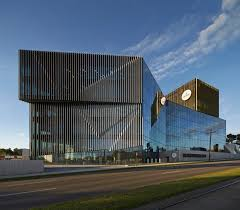 Jangho Curtain Wall Australia by Woods Bagot Take Gold And Silver Louvres To New Deakin University
