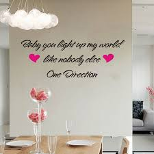 one direction baby you light up my world wall stickers decoration