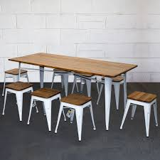 Tolix Style Dining Sets Rectangular Table & Chairs White Metal Wood ... Korean Style Ding Table Wood Restaurant Tables And Chairs Buy Small Definition Big Lots Ashley Yelp Sets Glamorous Chef 30rd Aged Black Metal Set Ch51090th418cafebqgg 61 Tolix Rectangular Onyx Matt Chair Fniture Side View Stock Vector The Warner Bar In 2019 Fniture Interior Indoors In Vintage Editorial Photography Image Town Quick Restaurant Table Chairs Bar Cafe Snack Window Blurred Bokeh Photo Edit Now