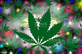 viele marihuanablätter cannabis und rauch auf einem bunten hintergrund stock vektor und mehr bilder abstrakt