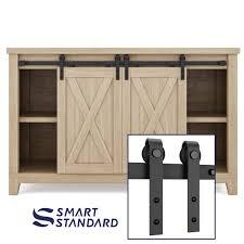 Costway Costway Buffet Storage Cabinet Console Cupboard WGlass