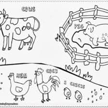 Farm Animals Coloring Pages And Activity Sheets Of Their Homes