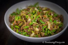 Sauteed Green Beans With Ground Beef