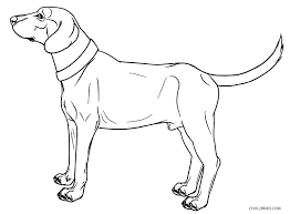Dog Coloring Pages Color Page Real Looking Printable For
