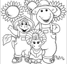 Coloring Pages Popular Barney Book