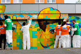 Famous Street Mural Artists by Addingcolortolives Designing A Huge Mural In Cologne Park Inn