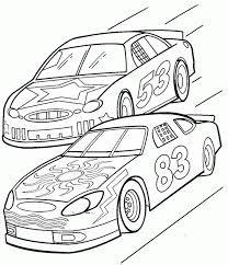 Awesome Coloring Car Pages For Kids At Cars Color Page Free Printable Race
