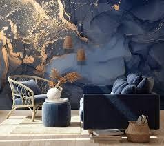 kunst wallpaper peel und stick selbst klebende marmor wand wand bildende abstrakte tapete blau wand bildgold gold wallpaper wohnzimmer schlafzimmer