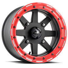 100 Black And Red Truck Rims WHEELS DWT RACING