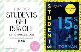 Topshop Topman Student Discount Promo November 2013 | Sale Off ... Tshop Seattle Rope Tote Bag Coupon Code All Trend Deals Coupon Code 2018 O1 Day Deals Up To 20 Off With Debenhams Discount August 2019 The Signal Vol 86 No 1 By Issuu Nyx Codes Sales 70 Off Uk Aug Depal Sale What Buy Before Retailer Closes All Us Stores Bewakoof Gift Get Assured 10 Cash Back On Your Order Discount Card Coupons