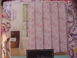 Cynthia Rowley White Window Curtains by Rowley Eaton Paisley Purple Orange Red Yellow Gray White Shower