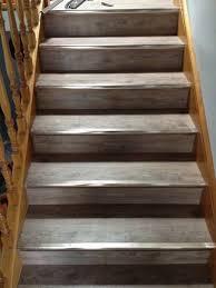Direct Floor Coverings Rustic Grey 5mm Waterproof Vinyl Planks Clic Lock On Stairs