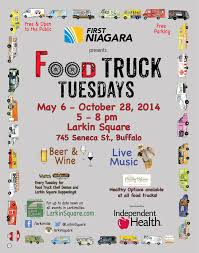 In Buffalo On Tuesday Night? Check Out Food Truck Tuesdays 5pm-8pm ... Food Truck Tuesdays Larkin Square The Souths Best Trucks Southern Living Chicago Latinfusion Carnivale Buffalo News Food Truck Guide Chefs Wny Ny Lloyds Rocket Sauce 5oz Glass Black Market Run Is Over Catering In Future Brace For Trucktoberfest Knishes At Bergen Eater Dc 716 Club House Outfront Metalworks Bada Bing On Twitter Display Welcome