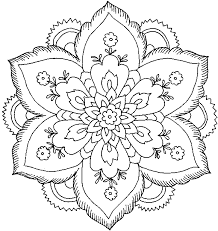 Hard Flower Coloring Pages To Print Free Printable For A Variety Themes That You Can Out And Color Kids Girls