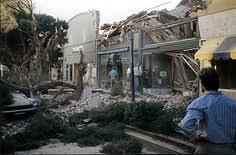 Loma Prieta Earthquake 1989 Rescue work at the Pacific Garden