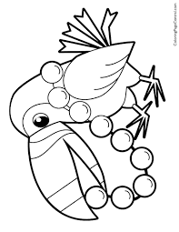 Toucan Wild Bird Coloring Pages Print Coloring