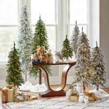 Downswept Pencil Christmas Tree by Down Swept Slim Pine Grandin Road