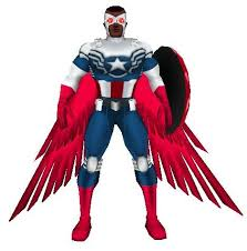Captain America Sam Wilson Is On By Grenadier I Skoped In The Wings From INKs Falcon Then Made New Costume Bits For