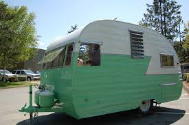 1956 Shasta Travel Trailer Showing Front Tilt Up Window