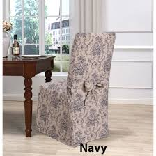 Long Dining Chair Covers   Chateau Toile - Cotton/Polyester Ding Chair Slipcover Sewing Pattern Chairs Home Room Sets Sure Fit Soft Suede Shorty Taupe Velvet Cover Jf Covers Homiest 1 Pc Spandex Stretch Linen Store Basket Weave Texture Form Portland Full Length 4 Pack Shop Luxury Collection Metro Free Shipping On Decor Best For Parson Create Awesome Pearson Pin By Neby On Modern Interior Ideas Room Chair Long Chateau Toile Cottonpolyester Amazoncom Classic Slipcovers Cabana Stripe Short