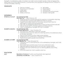 Housekeeper Cv Template Resume Examples Housekeeping Sample For Hospital Supervisor